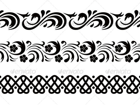 Black And White Border Designs Patterns 3016 Vector Graphics Design Border Design Pattern Design
