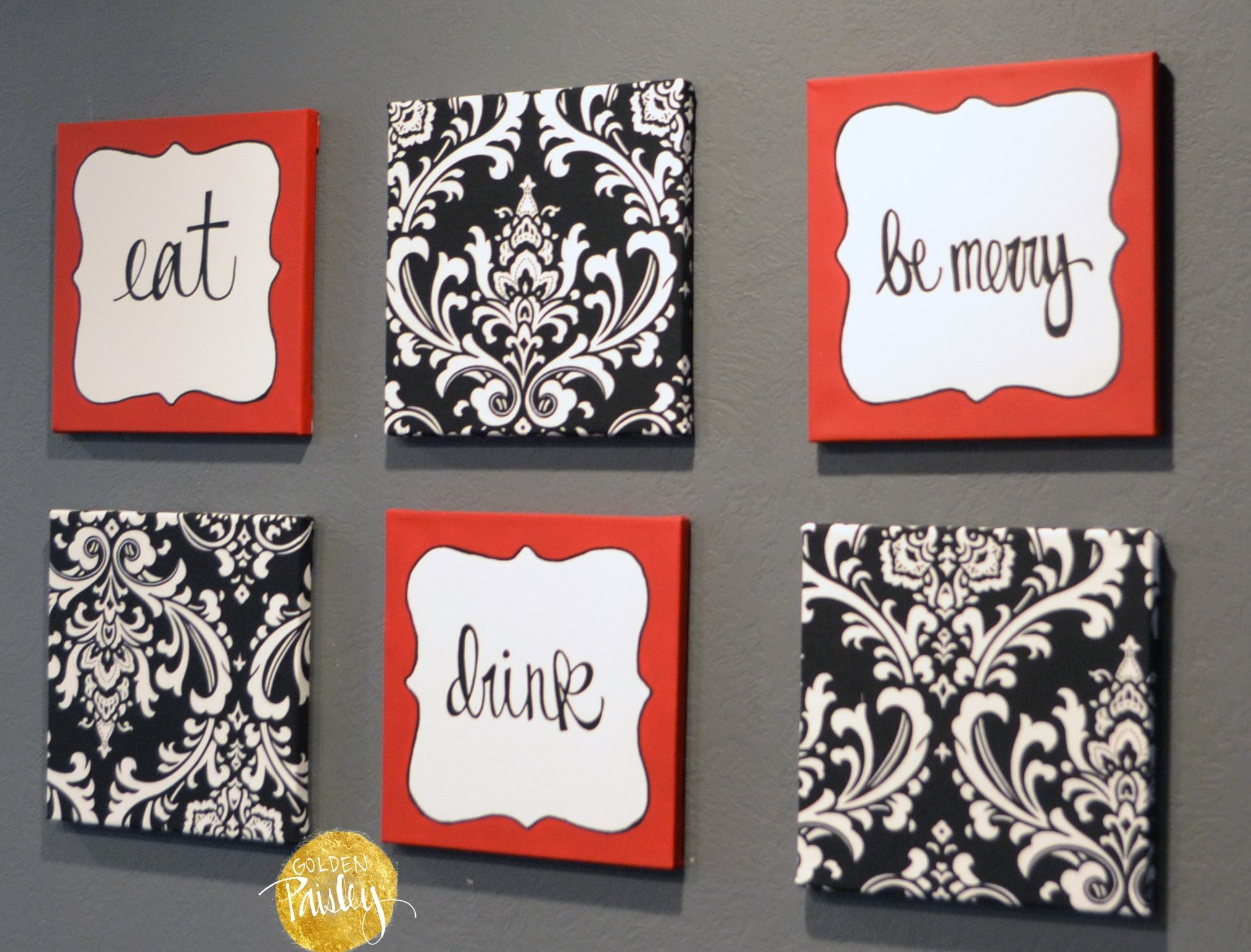 Red and black kitchen wall art dining wall pinterest kitchen