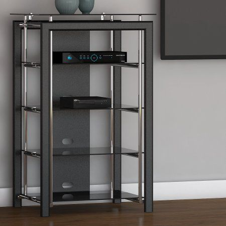 Bush Furniture Midnight Mist Media Stand In Black Walmart Com Bush Furniture Furniture Christmas Gifts For The Home