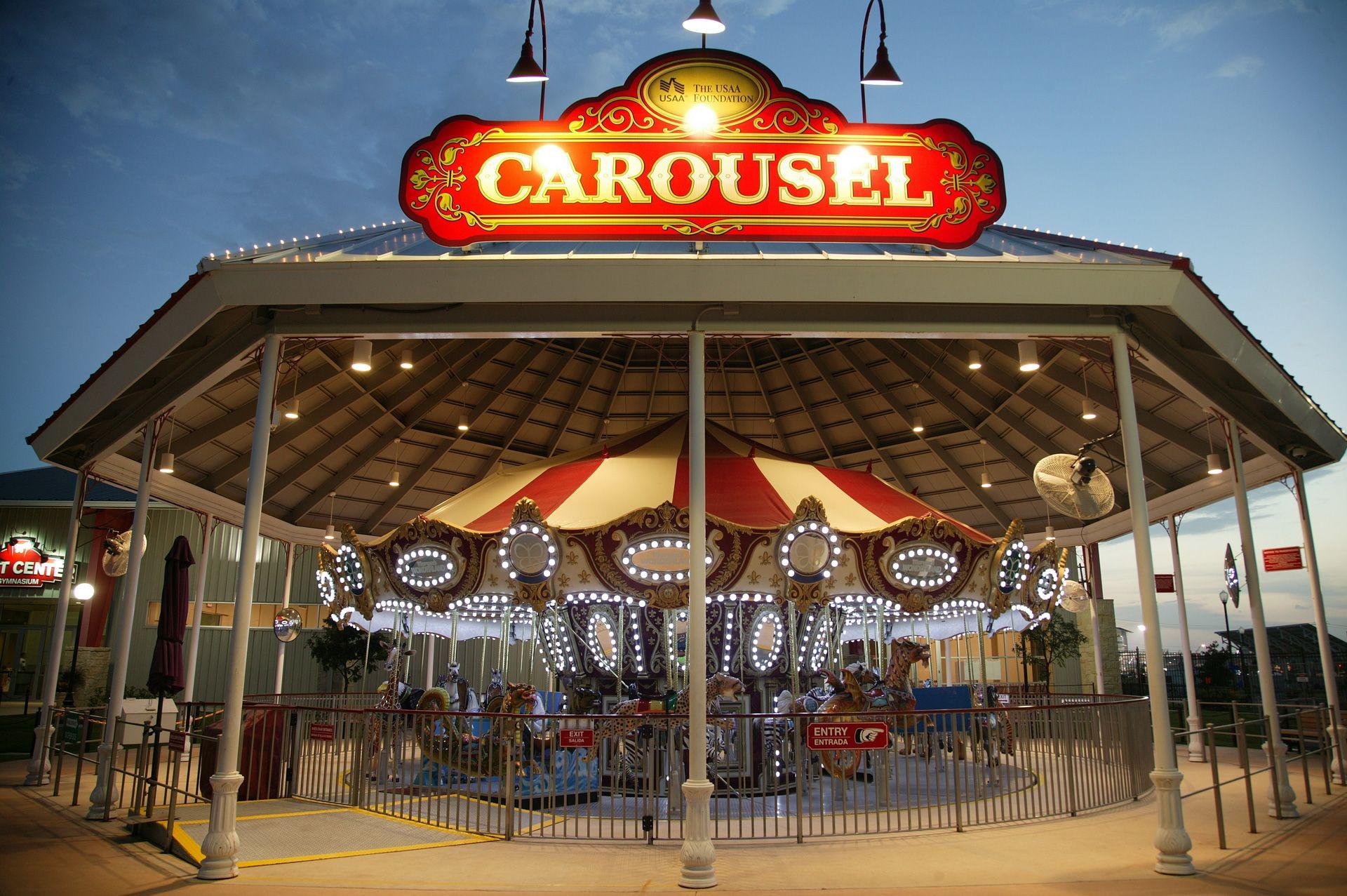 Wonderland San Antonio Logo Design Carousel