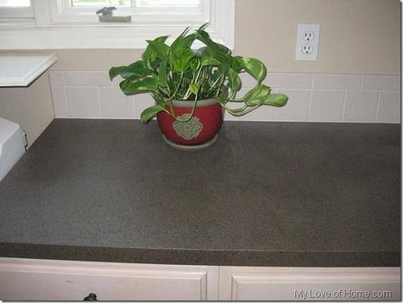 How To Spray Paint Your Laminate Countertops ... Good Idea For The Cabin!