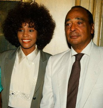 Whitney Houston Photo Whitney And Her Father John Houston Whitney Houston Whitney Houston