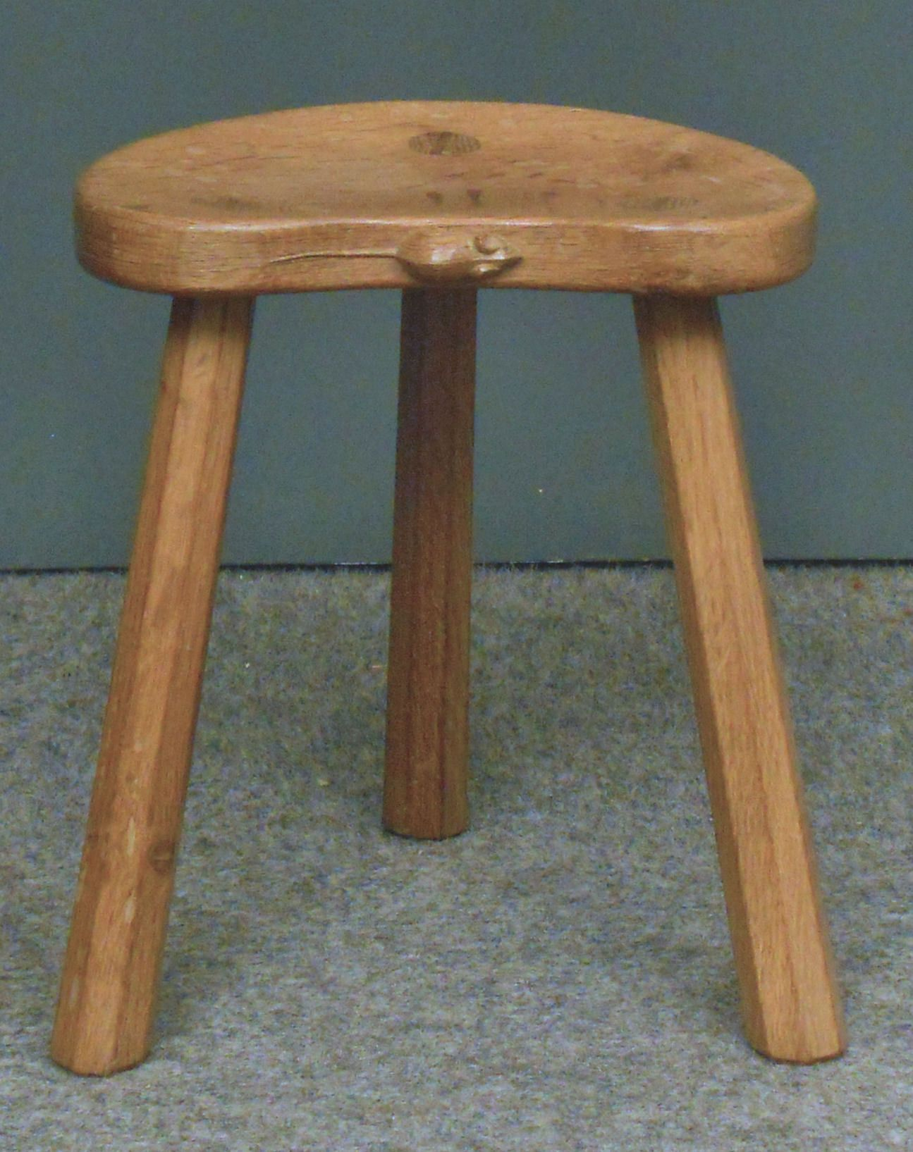 Antique Furniture Antiques Antique Elm Milking Stool Fine Craftsmanship