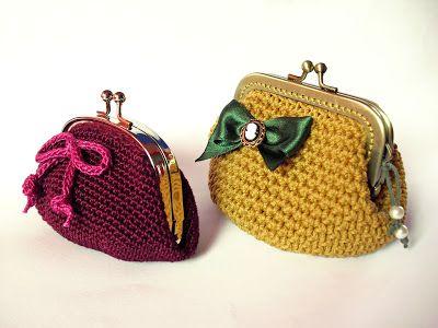 Monederos Crochet | Crochet | Pinterest | Crochet, Crochet coin ...