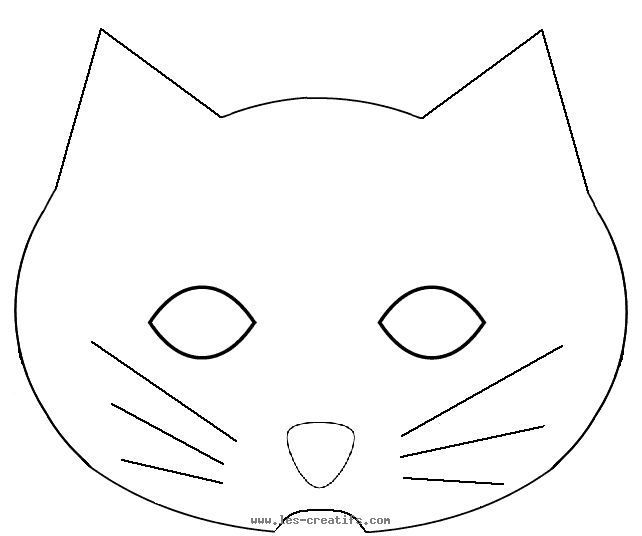 Image result for cat mask print out busy activities for the kids - blank face template printable