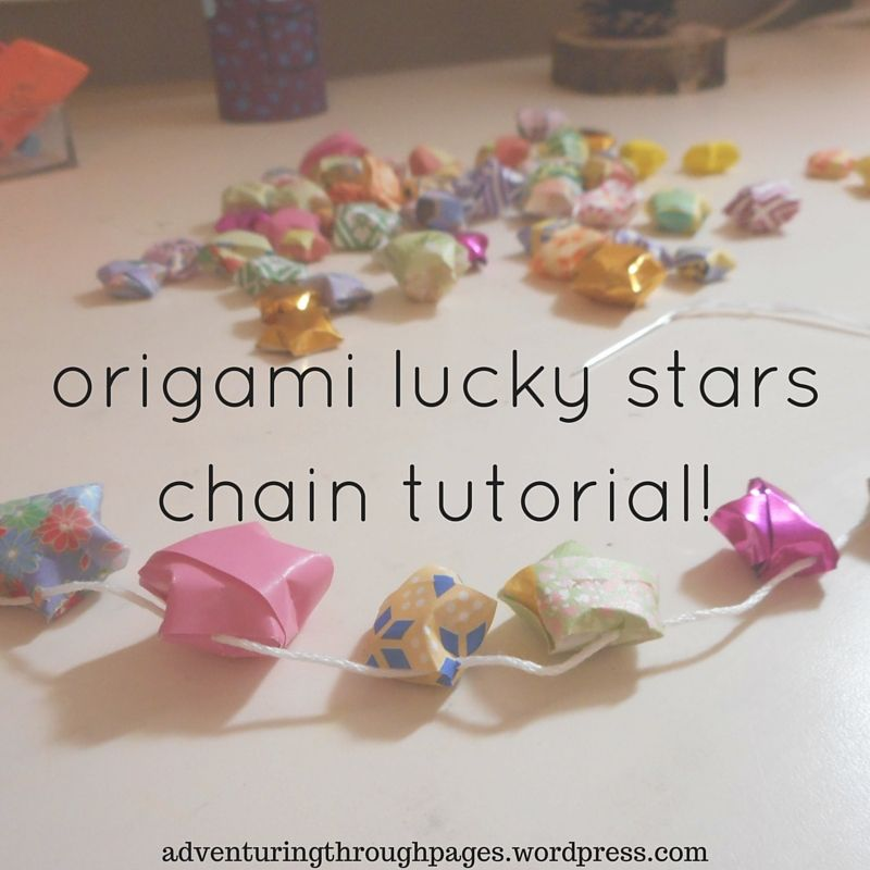 I Also Remembered To Take Some Photos So Could Share The Idea With Yall And Oh My Goodness A Chain Of Origami Stars Is Really Cute Ahhh