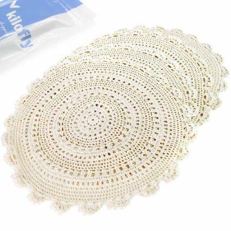 Jute Crochet Placemats Free Pattern