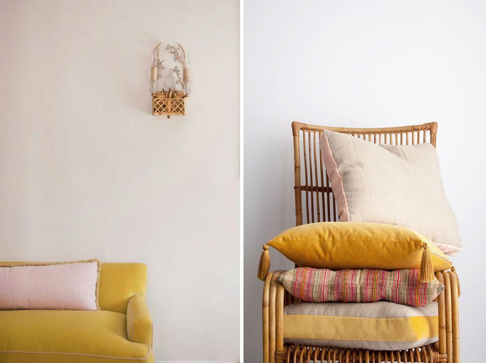 mustard yellow velvet home decor and furnishings ...
