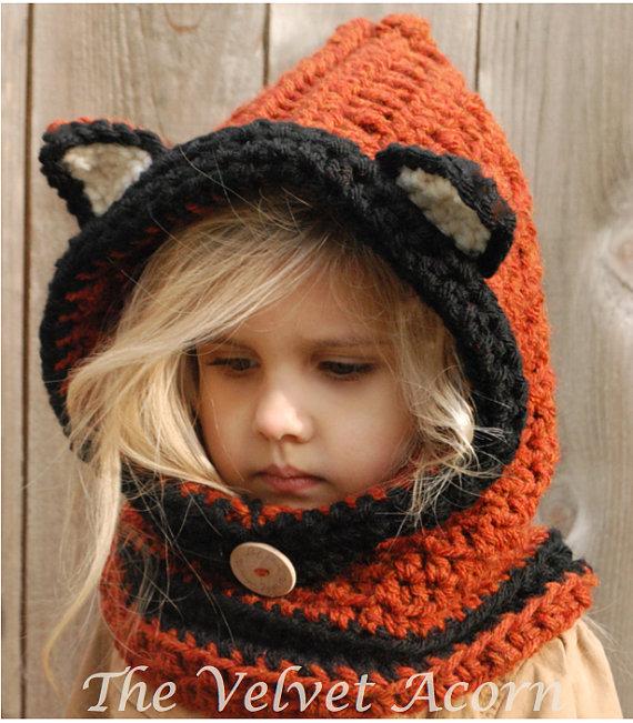 CROCHET PATTERN-Flint Fox Cowl (12/18 months, Toddler, Child, Adult ...