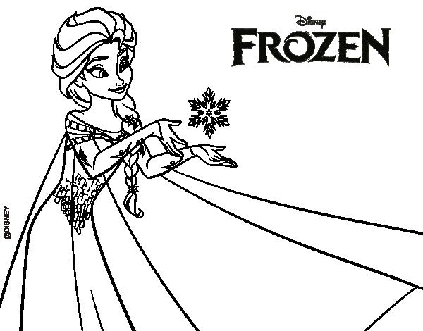 Dibujo de Frozen Elsa para colorear  ahh  Pinterest ...