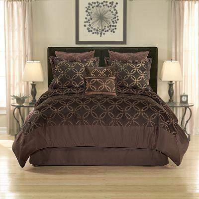 Home Classics Woodbury Reversible Comforter Set Hotel Bedding