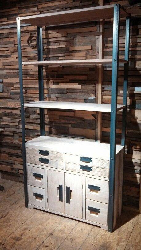 In Stock Ready to Ship! Bookcase Storage Reclaimed Oak (Handmade)