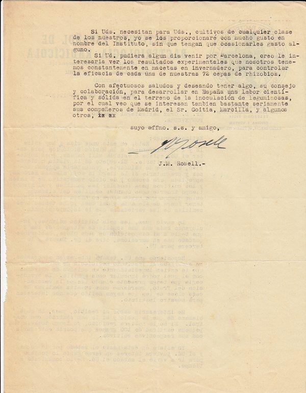 Carta de José Maria Rosell sobre el envío de semillas de altramuz dulce alemán y la posible recepción de soja alemana en la MBG_2. AMBG. Enlace al registro http://aleph.csic.es/F?func=find-c&ccl_term=SYS%3D000138934&local_base=ARCHIVOS