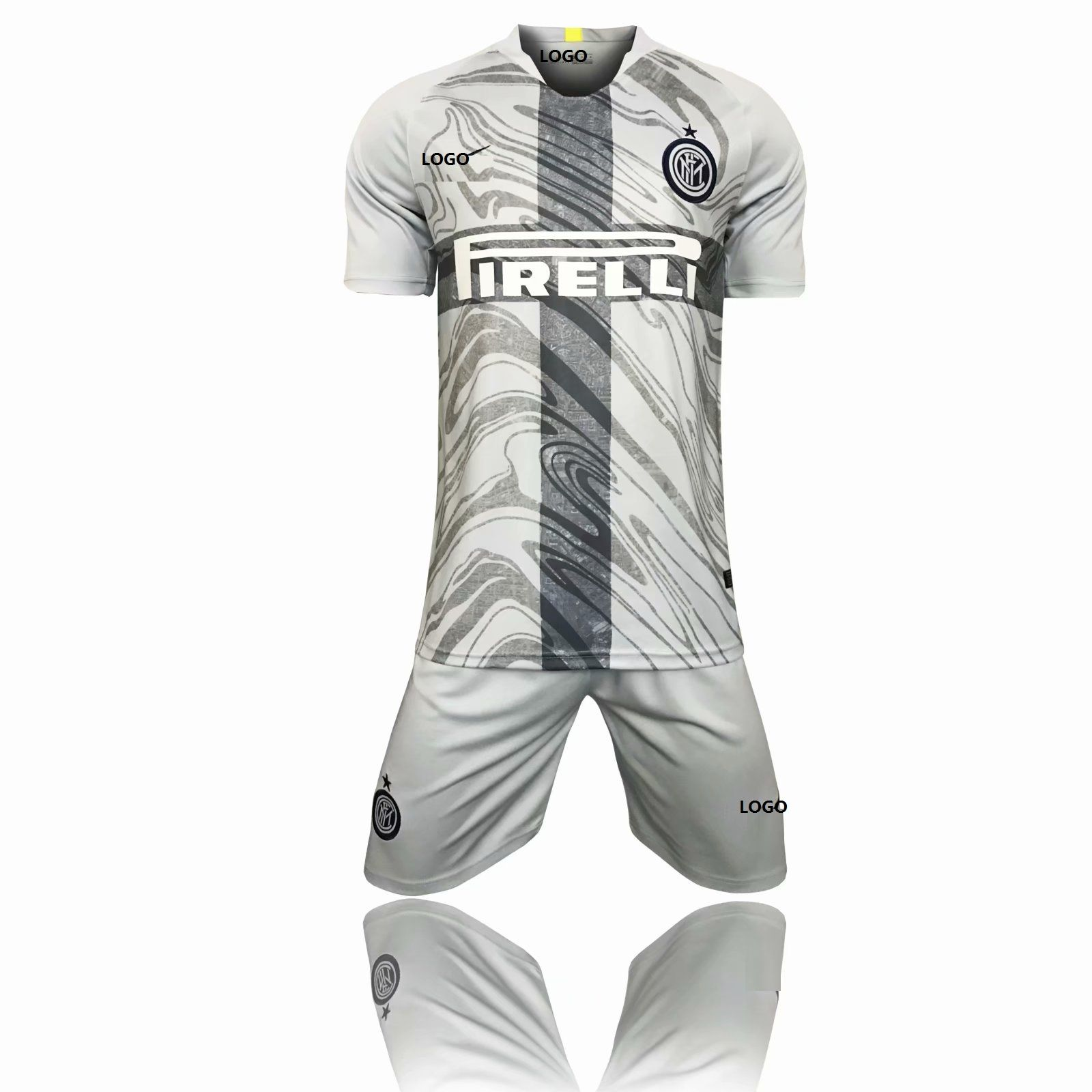 2018 19 Adult Inter 3RD Away Soccer Jersey Uniform Youth Grey Football Kits  AAA Quality 2d5afabe8