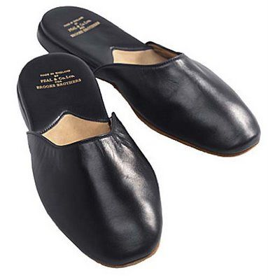 I 39 D Wear These Around The Home Men 39 S Leather Slippers Fashion Pinterest Leather