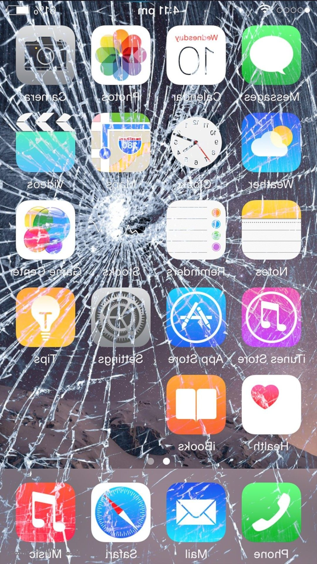 Prank Broken Screen Image In 2020 Broken Screen Wallpaper Broken Screen Iphone 7 Wallpapers