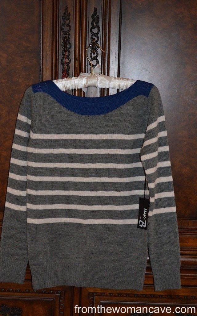 Cute sweater from Stitch Fix :-)