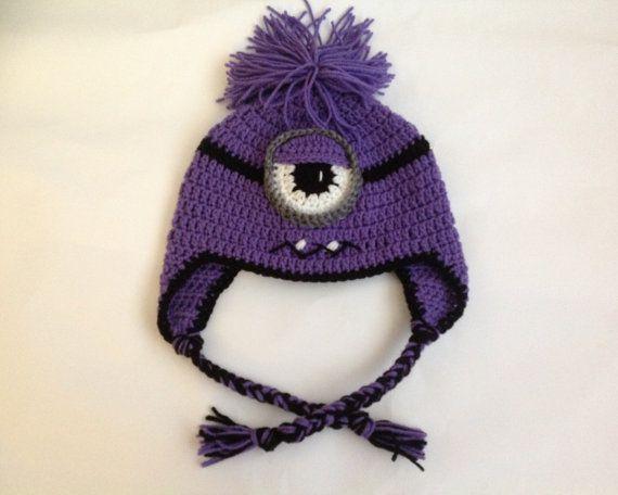 Despicable Me - Crochet Minion - Purple Minion - Crazy Minion - Evil ...