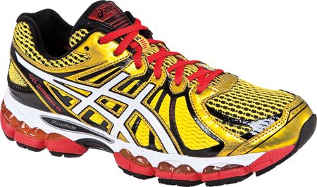 ASICS GEL-Nimbus 15 in Yellow/Pearl White/Red | Running shoes for ...