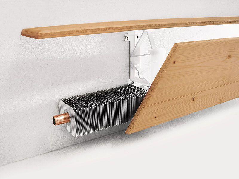 Die Variotherm Heizleisten Classic Konnen Einfach Und Rasch Montiert Werden Die Verkleidung Kann Indivi Wandheizung Stahl Rahmenkonstruktion Metallverkleidung