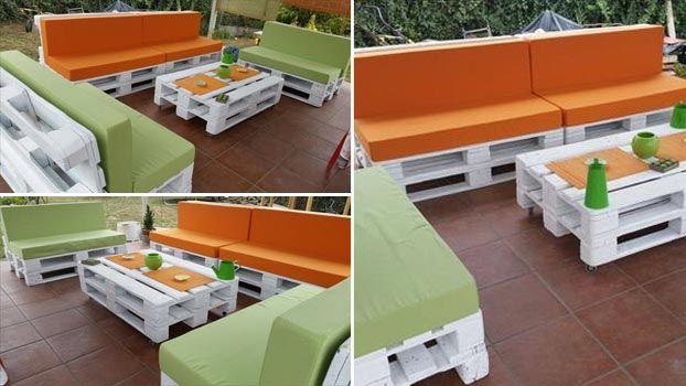 mobili con pedane di legno: pallet come trasformarlo in mobili e ... - Idee Mobili Per Esterni