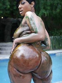 ass oiled black giant