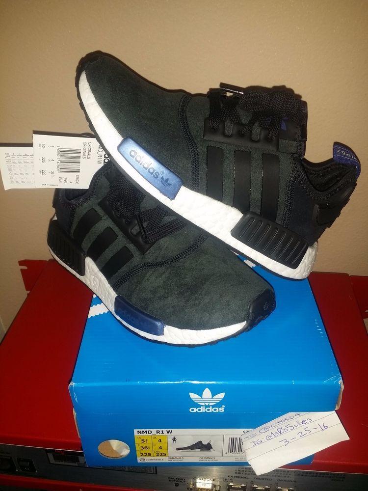 7cf8e97af2efe Adidas Nmd R1 Runner WMN Core Black Suede Sz 7.5US