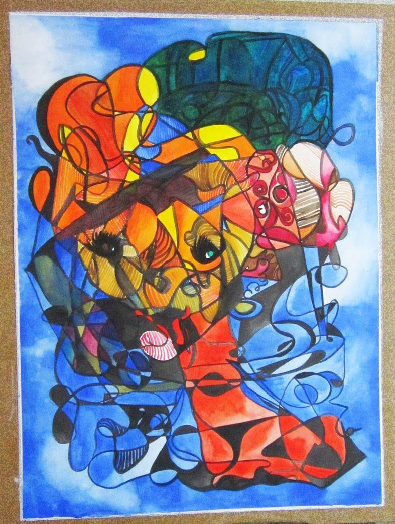 LADY IN BLUE-ACUARELA FERNANDINI-(70cmx56cm)- PRECIO:500 Dólares | Venta de Pinturas al óleo y acuarela de Patty Fernandini