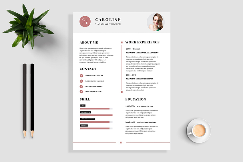 Minimal Resume / CV Template by TMint on in 2020 Cv
