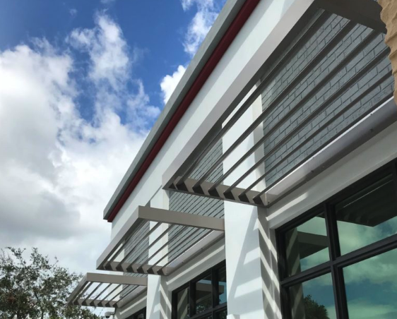 The Importance Of Powder Coating On Flat Metal Canopies In Maryland Metal Awning Metal Canopy Canopy
