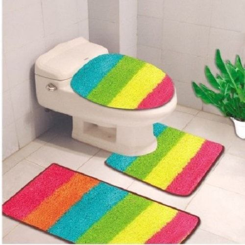 3 Piece Bathroom Rug Sets Striped Bath Rug Bathroom Rug Sets Bath Mat Rug