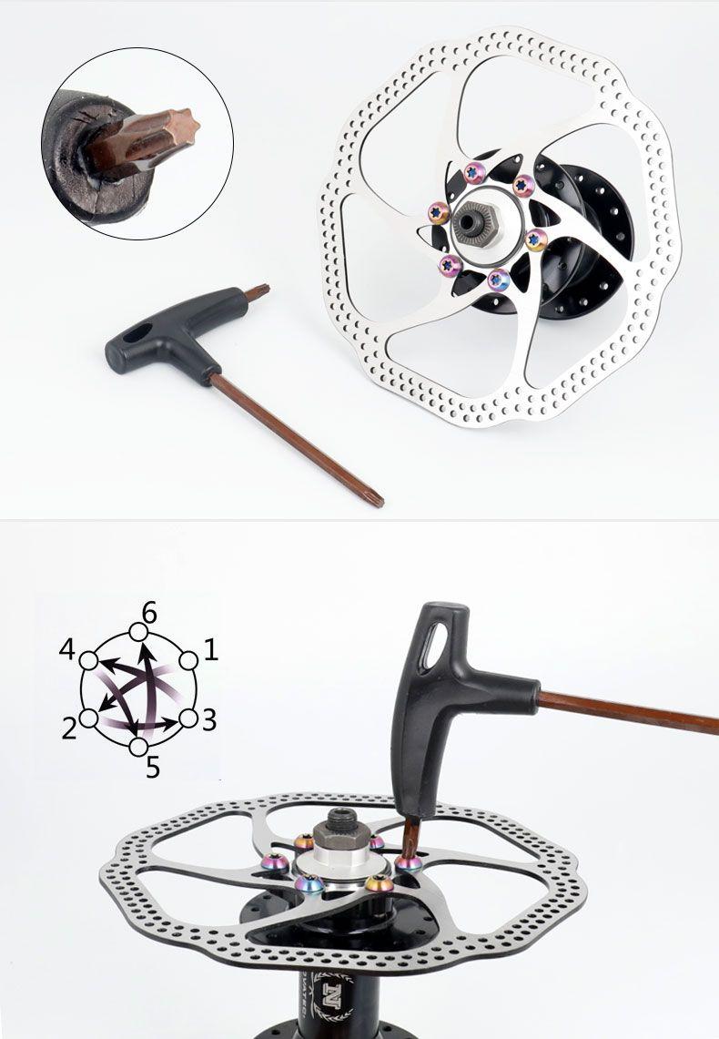 M5x10mm Disk Brake Rotor Bolts T25 Torx Titanium Bicycle Parts Mtb