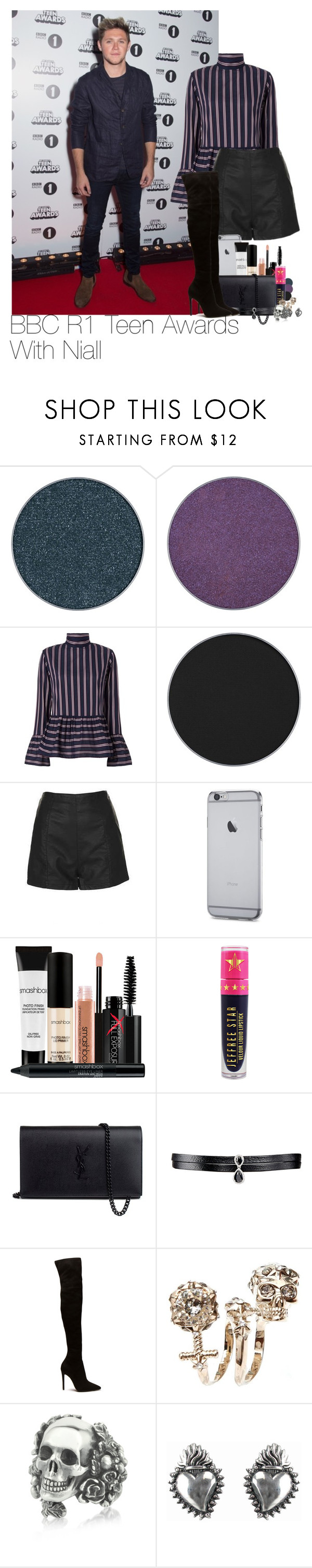 """Niall~#45"" by lauren-beth-owens ❤ liked on Polyvore featuring Anastasia Beverly Hills, Le Sarte Pettegole, Topshop, Smashbox, Jeffree Star, Yves Saint Laurent, Fallon, Alexander McQueen, Ugo Cacciatori and NiallHoran"
