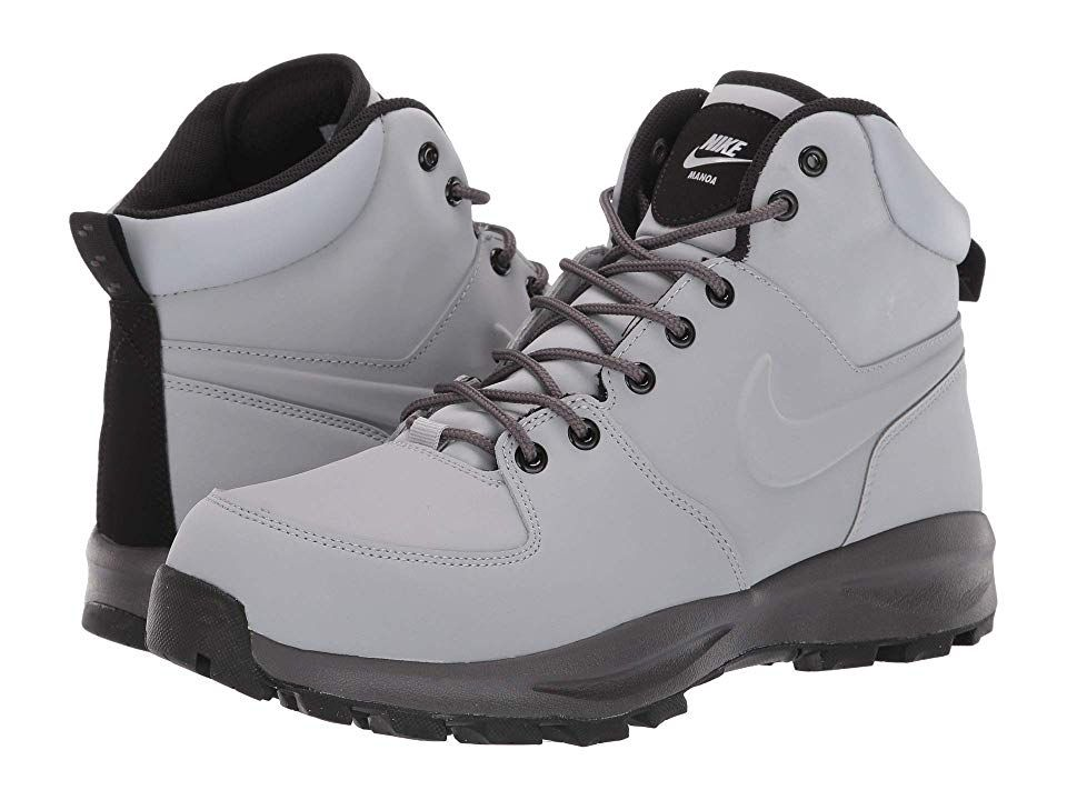 Nike Manoa Leather Men's Lace up Boots Wolf GreyThunder