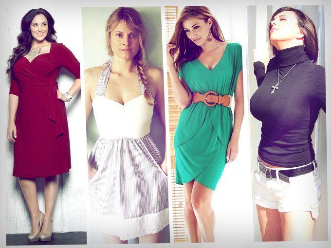 Vestidos casuales para mujeres con mucho busto
