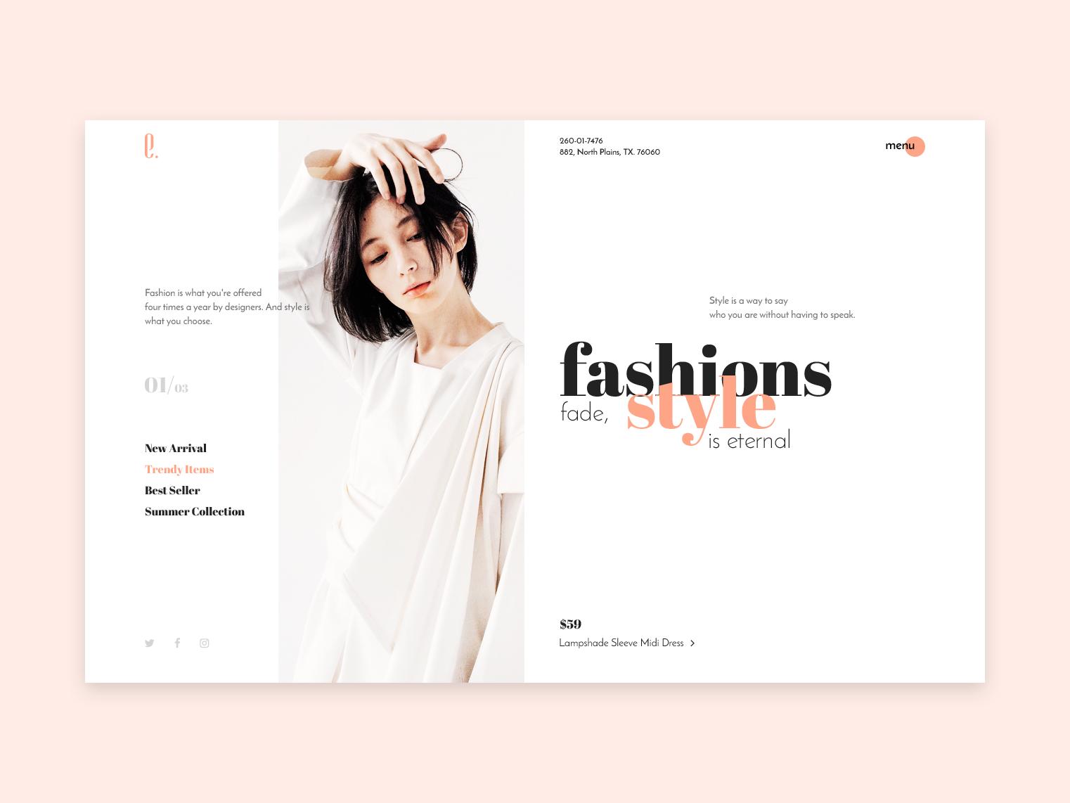 Fashion Concept Exploration Graphic Design Website Design Web Design