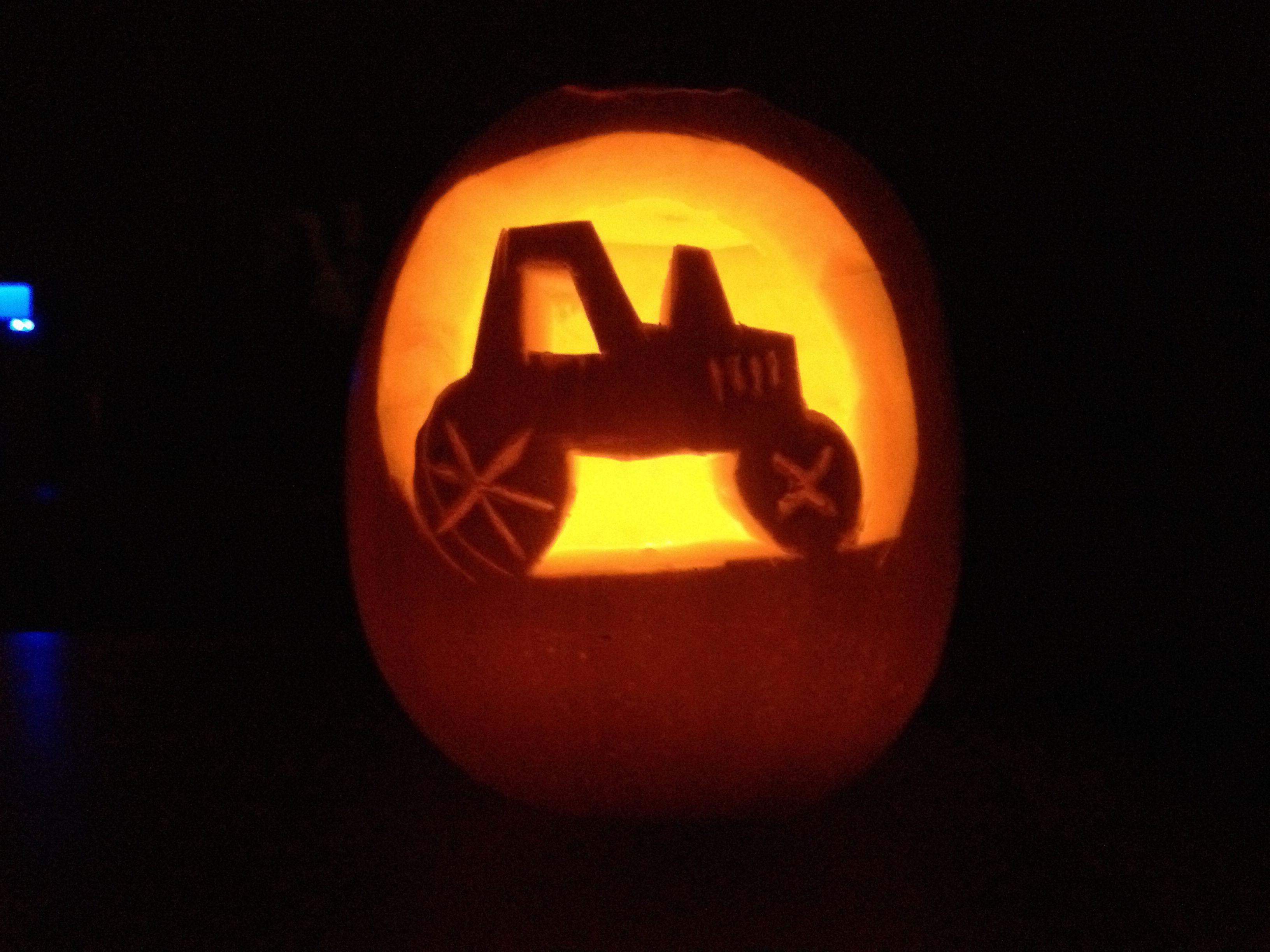 Tractor pumpkin carving tony Pinterest