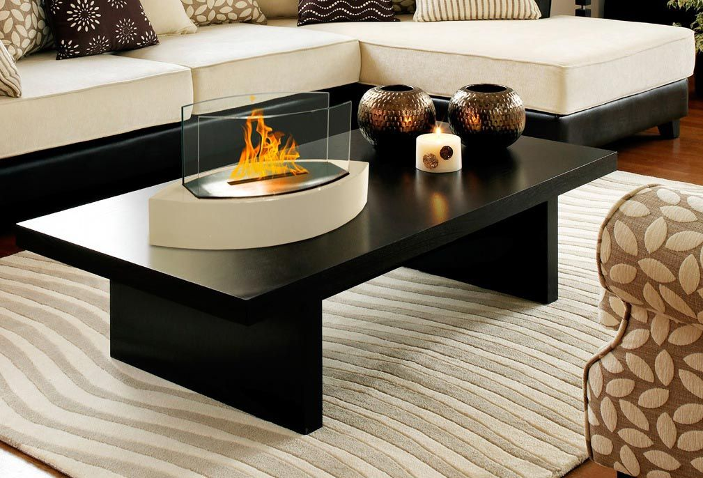 fire pit table indoor fire pit pinterest tabletop fireplaces rh pinterest com Fireplace Coffee Table Fireplace Modern Tables