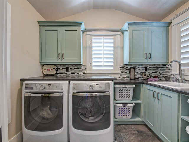 L Shaped Laundry Designs For Better Use Of The Space Functionality