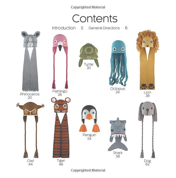 Amigurumi Animal Hats Growing Up: 20 Crocheted Animal Hat Patterns ...