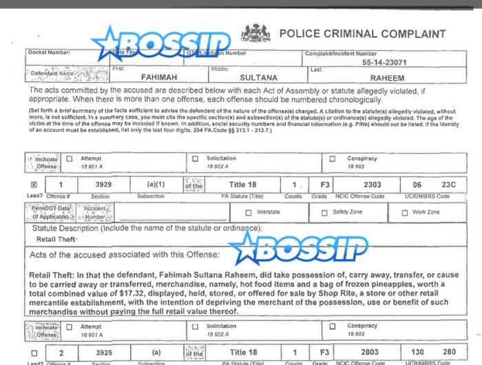 FahimahRaheemCriminalComplaint  Articles To Read