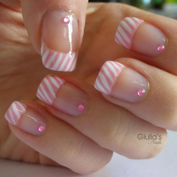 60 Fashionable French Nail Art Designs And Tutorials | Diseños de ...