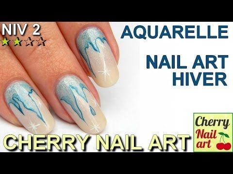 Nail Art Stalactite Aquarelle Nail Art Ongles
