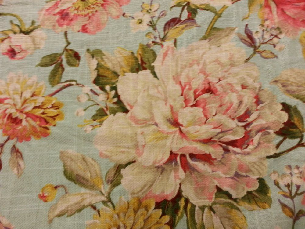 Awesome French Country Fabrics Part - 7: English Garden Shabby Chic Style French Country Linen Fabric Drapery Fabric