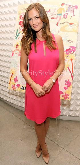 "Minka Kelly was pretty in neon pink 3.1 Phillip Lim Sleeveless Tank Dress celebrate the release of ""City of Style"" on Tuesday (May 22) at the 3.1 Phillip Lim boutique in Los Angeles."