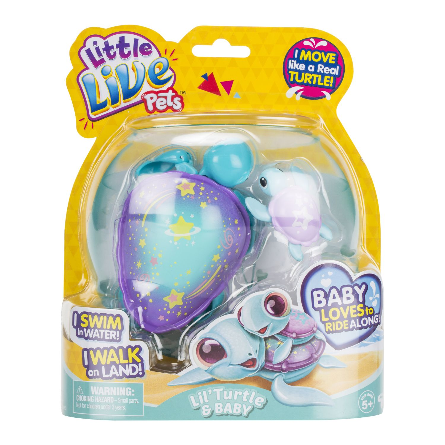 Little Live Pets Lil' Turtle and Baby Set (With images