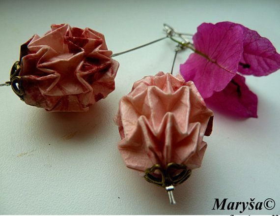 origami ball earrings - Google Search