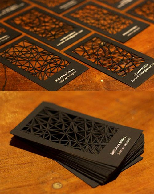 Neat and cool collection of black and white business cards laser cut black business card colourmoves