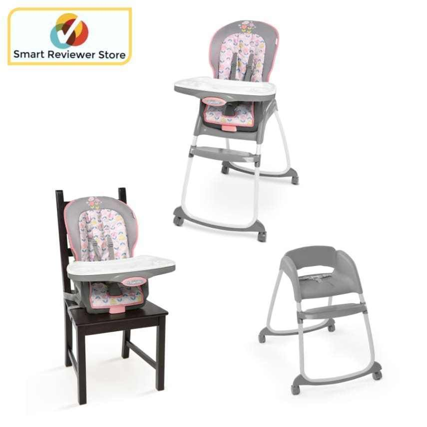 Baby High Chair Trio 3in1 Converts To Booster And Toddler Chair By