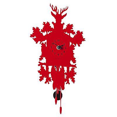 Buy Diamantini & Domeniconi Contemporary Cucu Wall Clock, Red online at JohnLewis.com - John Lewis